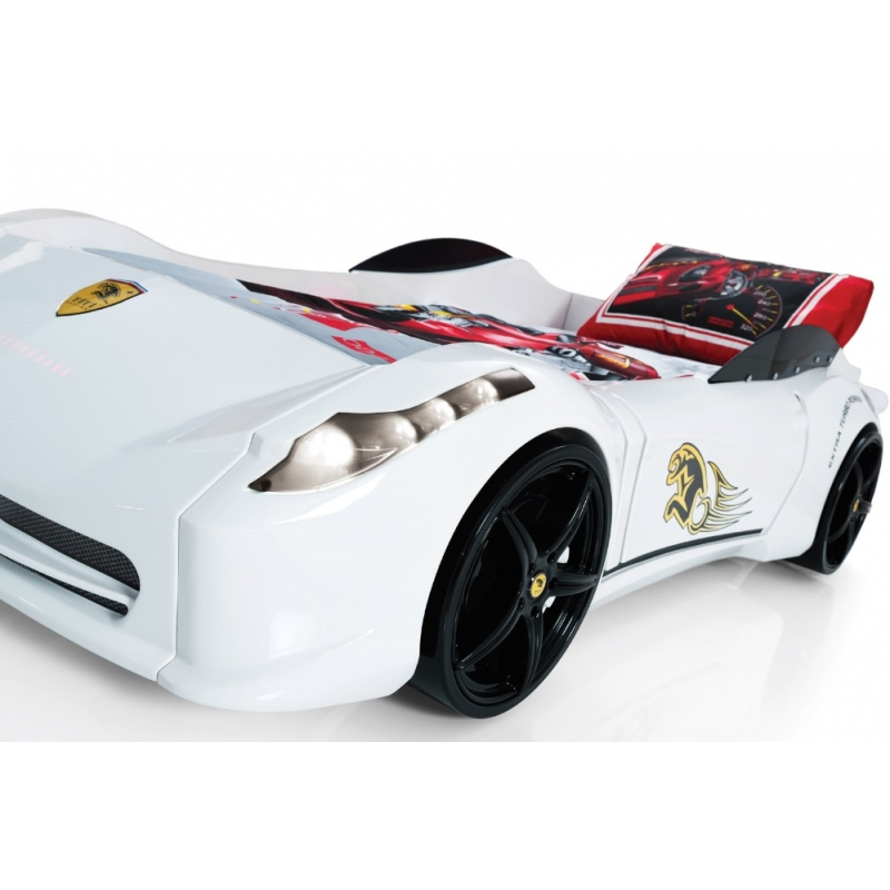 Aero Spider White Racing Car Bed